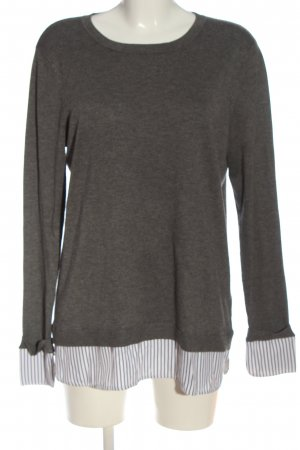 Bon'a Parte Knitted Sweater light grey flecked casual look