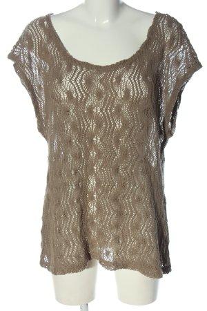 Bon'a Parte Koszulka z dzianiny brązowy Warkoczowy wzór W stylu casual