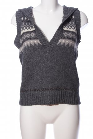 Bon'a Parte Knitted Vest light grey graphic pattern casual look