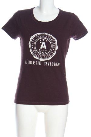 Bon'a Parte T-shirt brązowy Nadruk z motywem W stylu casual