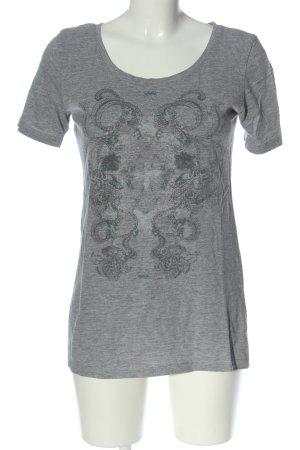 Bon'a Parte T-shirt jasnoszary Melanżowy W stylu casual