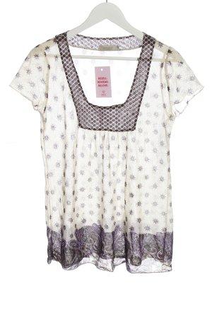 Bon'a Parte T-shirt w kolorze białej wełny Abstrakcyjny wzór W stylu casual