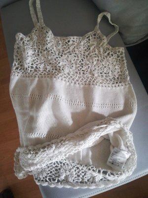 Bonaparte Szydełkowany top w kolorze białej wełny
