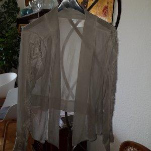 Bon'a Parte Kimono Blouse light grey viscose