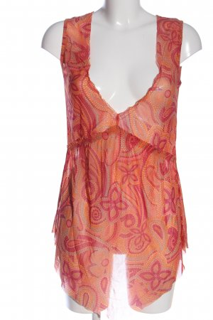 Bon'a Parte Transparent Blouse light orange-pink allover print