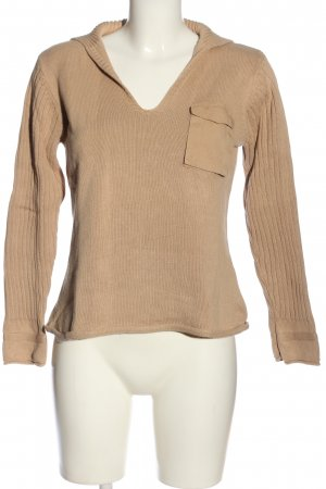 Bon'a Parte V-Neck Sweater cream casual look