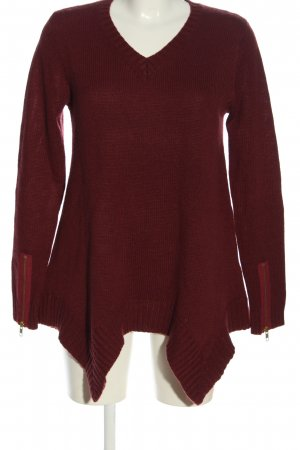 Bon'a Parte V-Neck Sweater red casual look