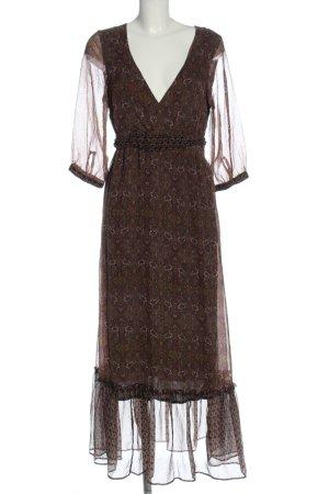 Bon'a Parte Sukienka z falbanami brązowy-czarny Na całej powierzchni