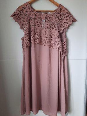 Bon Prix Szyfonowa sukienka stary róż
