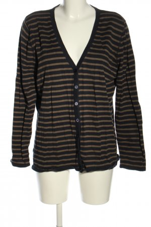 Bonaparte Cardigan nero-marrone motivo a righe stile casual