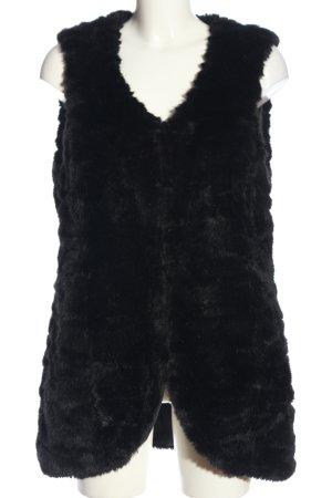 Bonaparte Futrzana kamizelka czarny W stylu casual