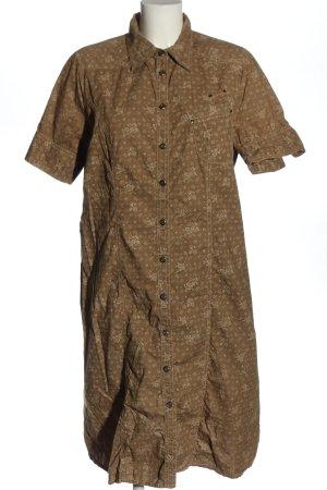 Bonaparte Abito blusa camicia marrone-bianco sporco stampa integrale elegante