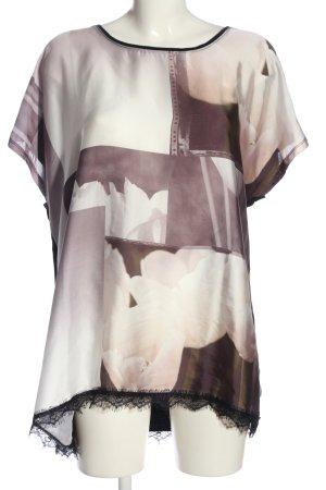 Bonaparte Kurzarm-Bluse schwarz-creme abstraktes Muster Casual-Look