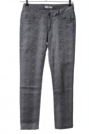 Bonaparte Skinny Jeans hellgrau-schwarz Allover-Druck Casual-Look