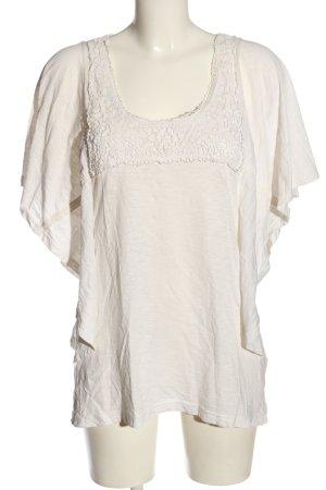 Bonaparte T-shirts en mailles tricotées blanc cassé style décontracté