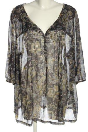 Bonaparte Transparenz-Bluse abstraktes Muster Casual-Look