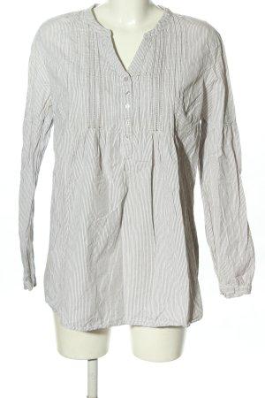 Bonaparte Tunikabluse weiß-hellgrau Streifenmuster Casual-Look
