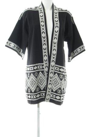 Bonaparte Übergangsjacke schwarz abstraktes Muster Casual-Look