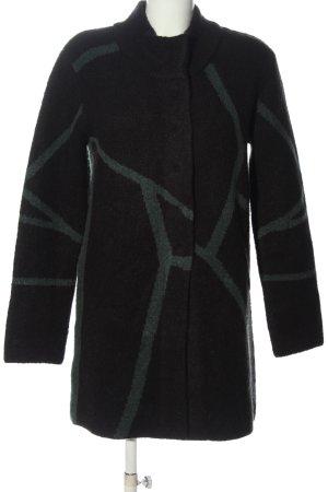 Bonaparte Cappotto mezza stagione nero-cachi motivo astratto stile casual
