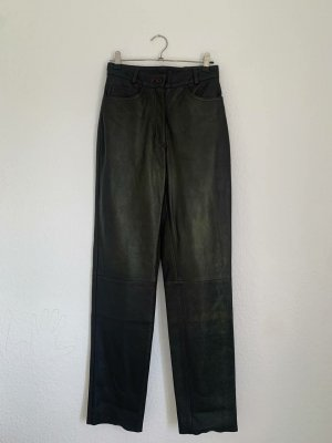 Pantalon en cuir noir-brun noir cuir