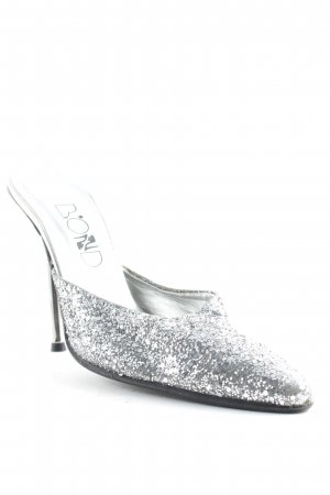 Bond Heel Pantolettes silver-colored glittery