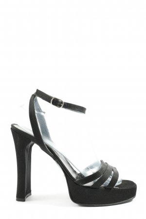 Bond Strapped High-Heeled Sandals black casual look