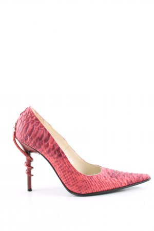 Bond Pointed Toe Pumps red animal pattern elegant