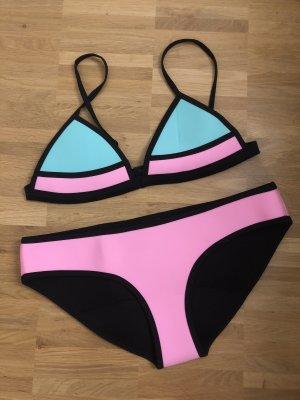 Bondi Born Australia Scuba Bikini Set pink mint M 38 neu schwarz