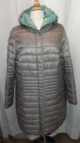 Bonita Quilted Coat silver-colored-turquoise