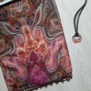 Bonita Bufanda de seda multicolor