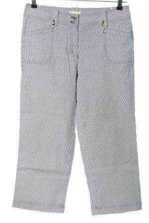 Bonita 7/8-Hose schwarz-weiß Streifenmuster Casual-Look