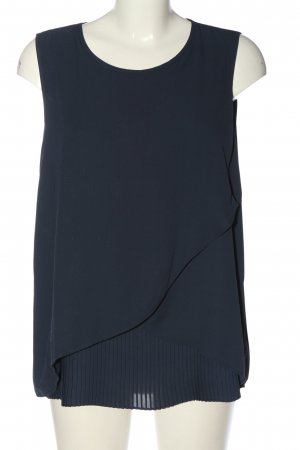 Bonita ärmellose Bluse blau Business-Look