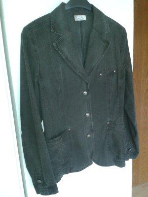 Bonita Blazer en jean gris anthracite-gris clair coton