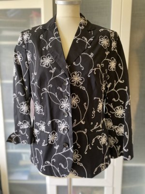 Bonita Korte blazer zwart-wit