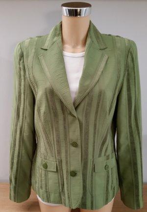 Bonita Blazer in grün mit Samtstreifen