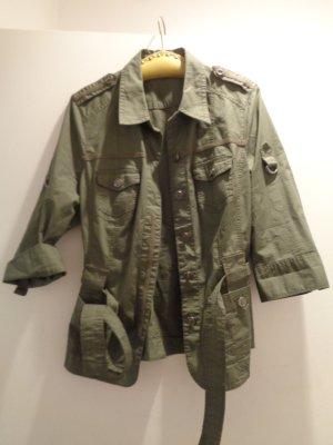 Bonita Giacca militare verde scuro Cotone
