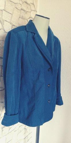 Bonita Blazer de tela de sudadera azul oscuro-petróleo