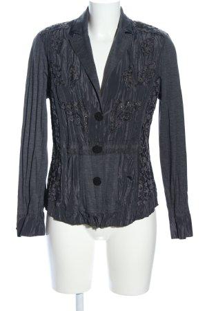 Bonita Veste chemisier noir motif de fleur style décontracté