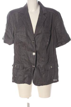Bonita Marynarka koszulowa jasnoszary Wzór w paski W stylu casual