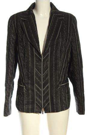Bonita Giacca a blusa nero motivo a righe stile classico