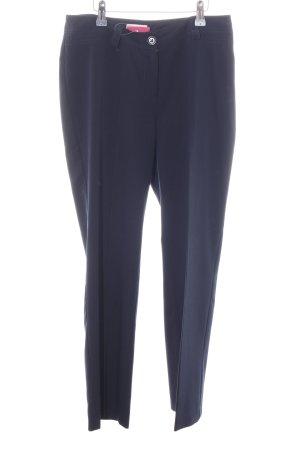 Bonita Bundfaltenhose blau Business-Look