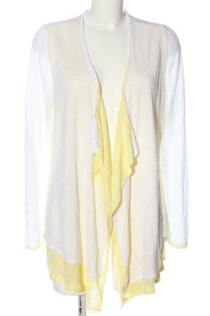 Bonita Cardigan bianco-giallo pallido stile casual
