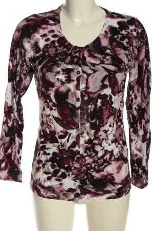 Bonita Cardigan rosa-grigio chiaro motivo astratto stile casual