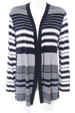 Bonita Cardigan schwarz-weiß Streifenmuster Casual-Look