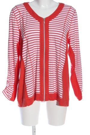Bonita Cardigan rot-weiß Streifenmuster Casual-Look
