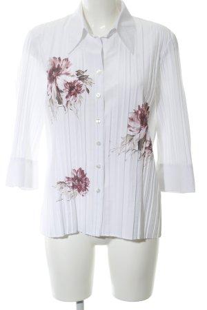 Bonita Crash-Bluse weiß-pink Blumenmuster Casual-Look