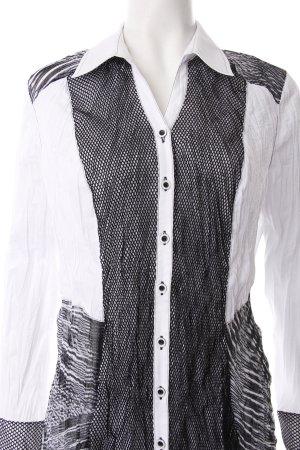 Bonita Crash-Bluse weiß-schwarz abstraktes Muster