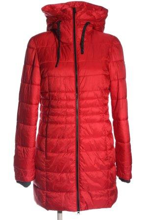 Bonita Kurtka puchowa czerwony Pikowany wzór W stylu casual