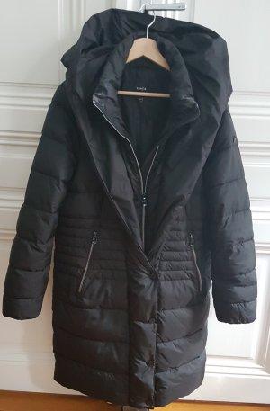 Bonita Abrigo de plumón gris antracita-negro Poliéster