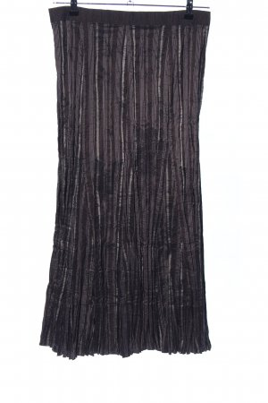 Bonita Plooirok bruin-lichtgrijs gestreept patroon elegant